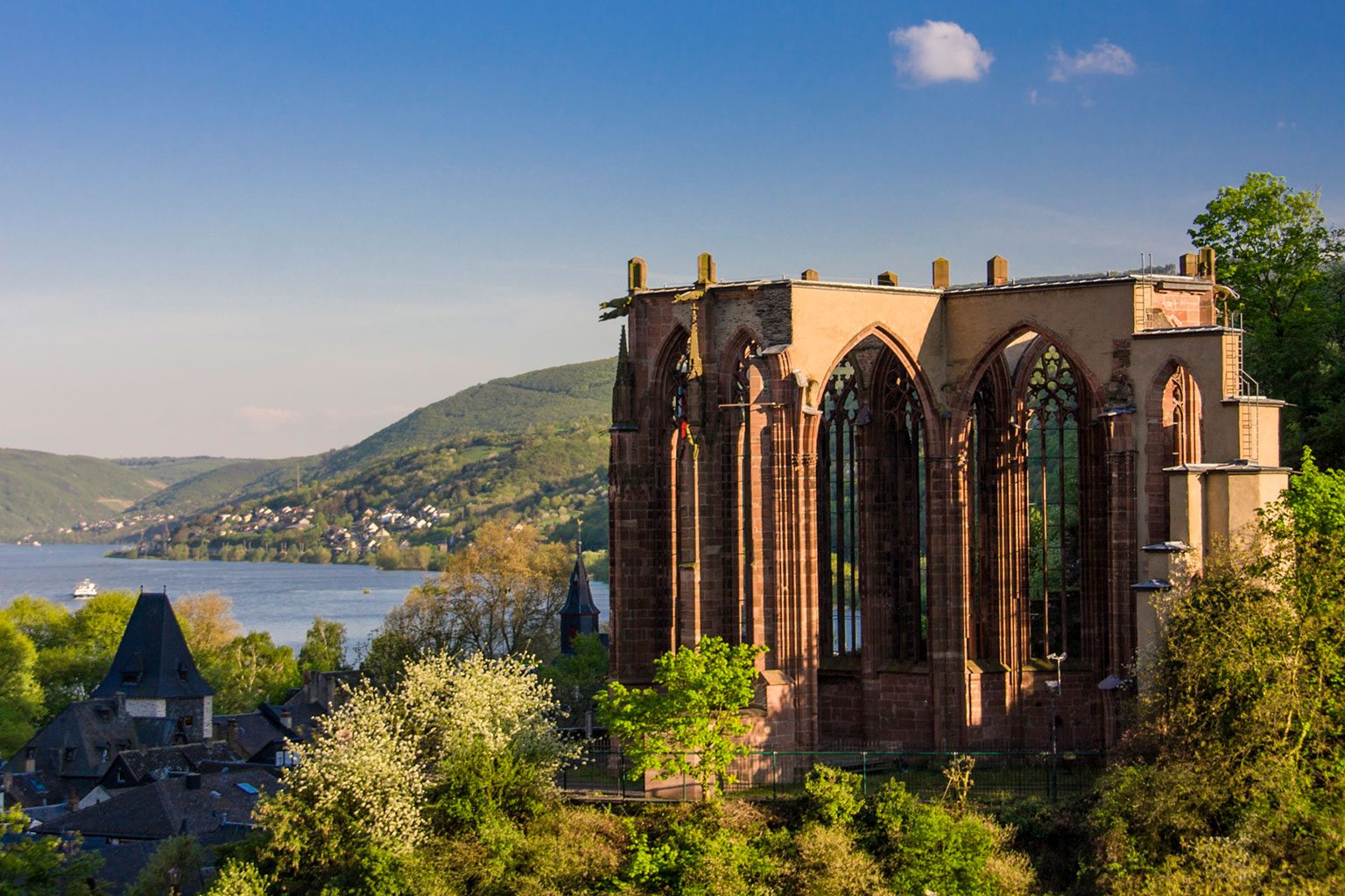 Werner Chapel overlooking Bacharach and the Rhine Valley