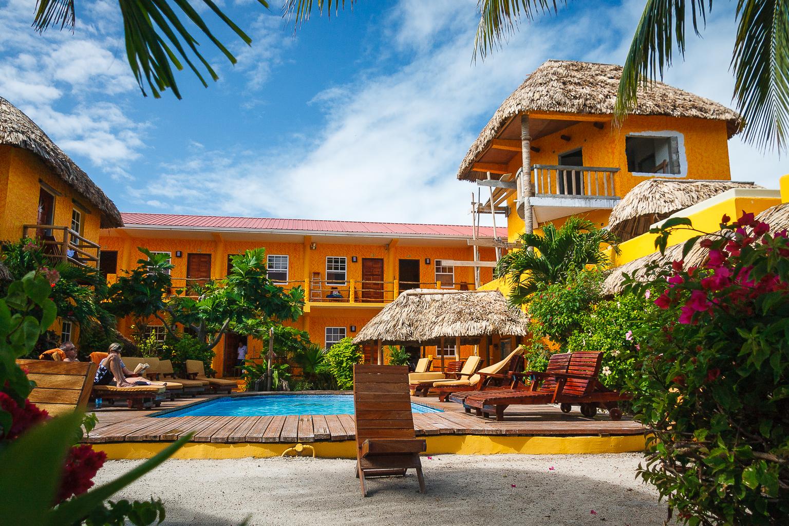 Hotel on Caye Caulker, Belize