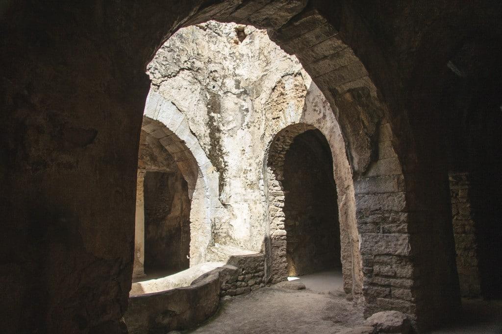 Underground corridors in Bulla Regia