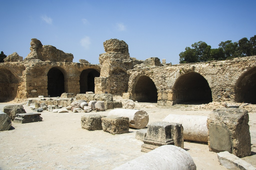 Roman Bath Ruins at Carthage