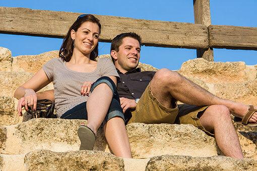 David and Zena at Jerash, Jordan