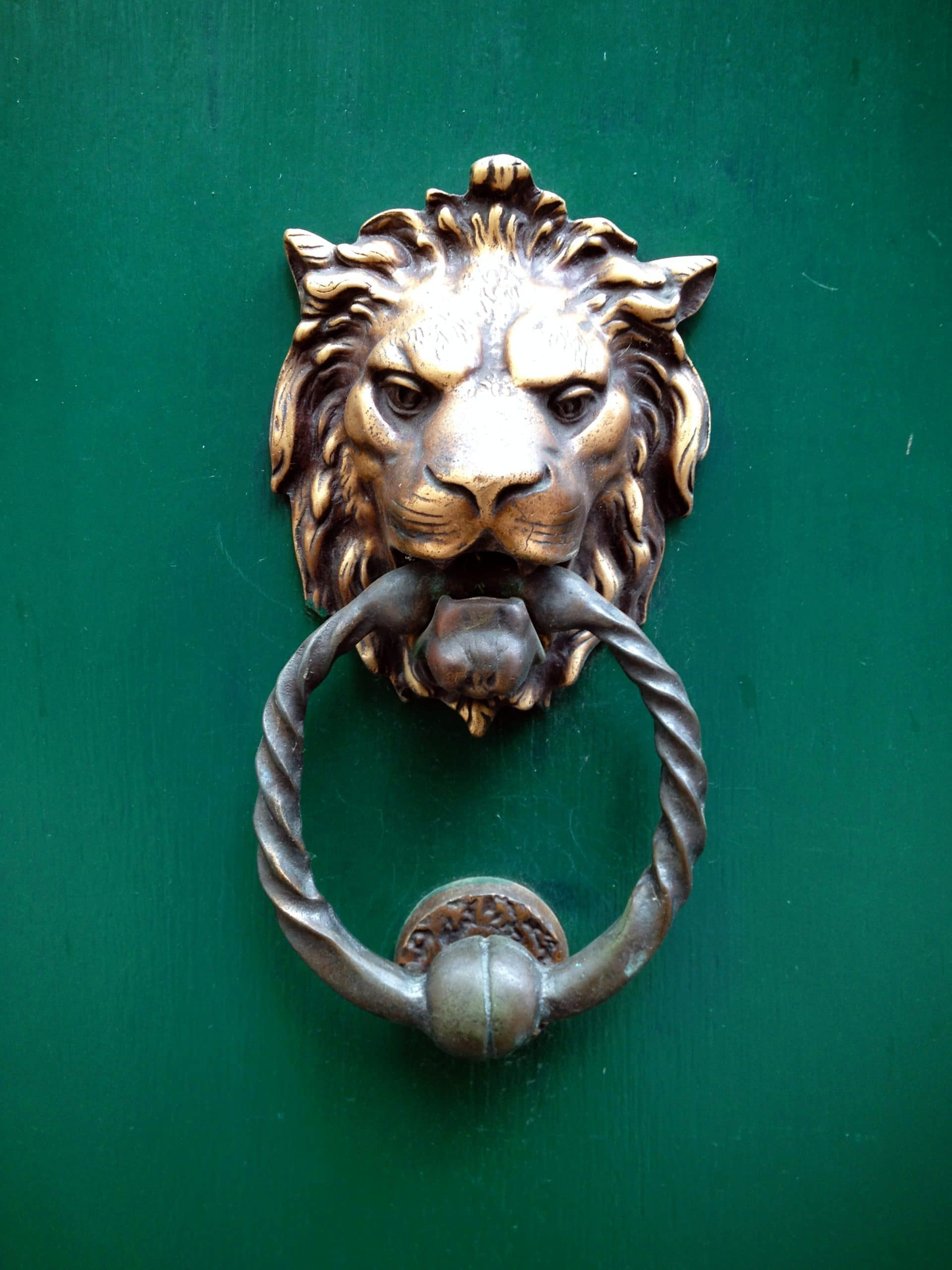 Door knocker, Bruges, Belgium