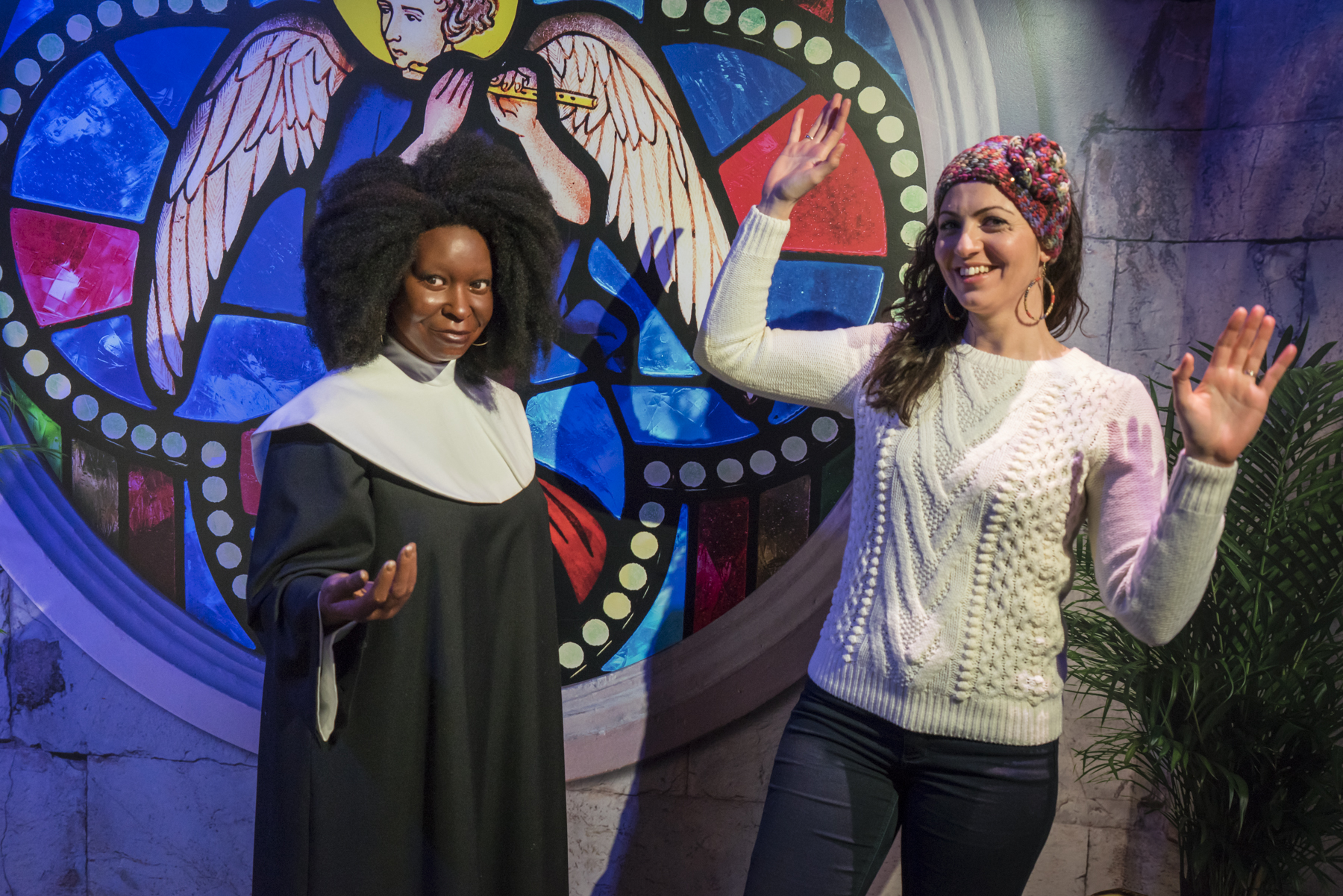 Whoopie Goldberg at Madame Tussauds wax museum