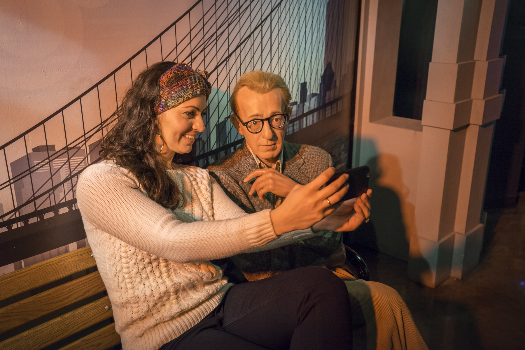 Woody Allen at Madame Tussauds wax museum