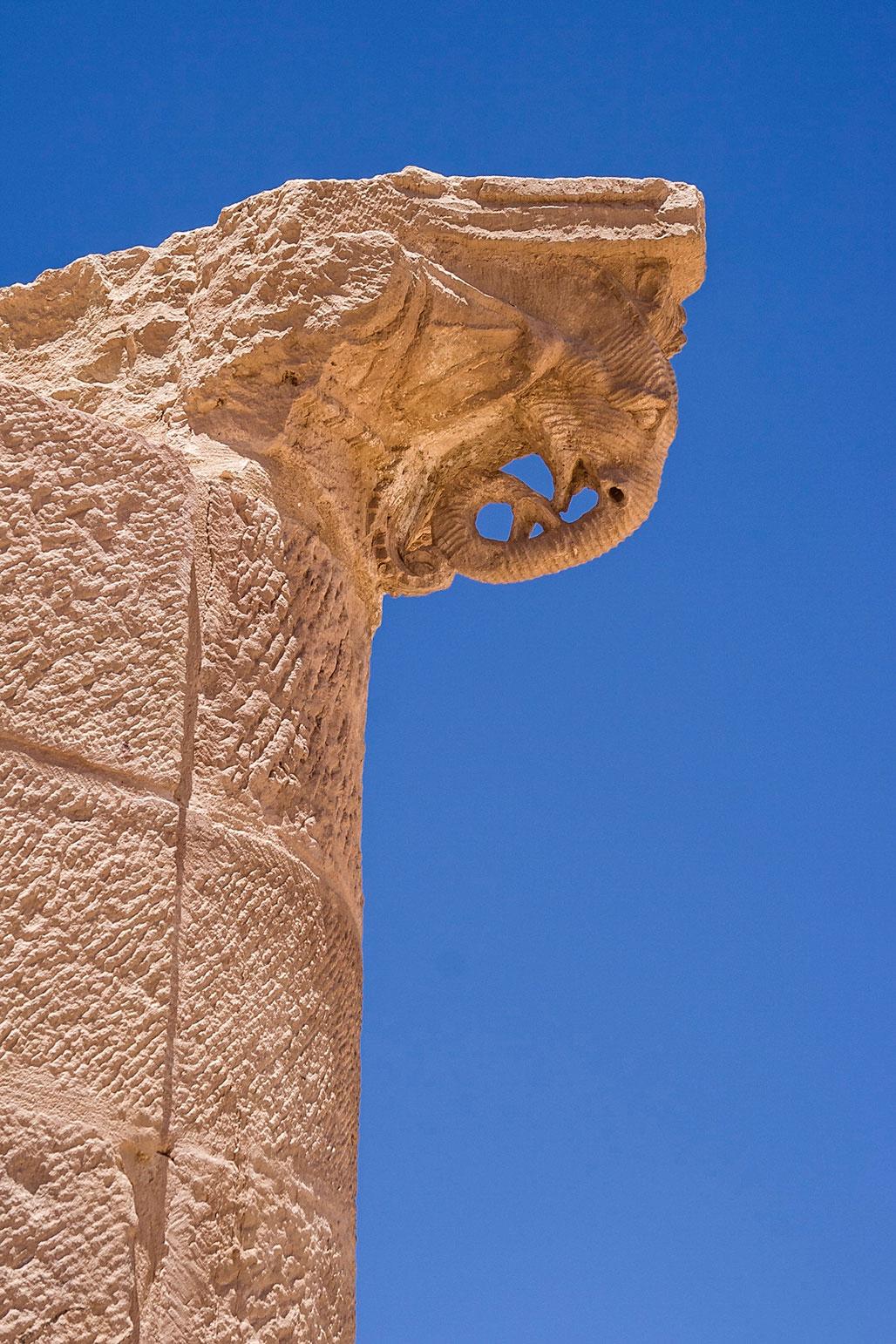 Elephant head columns