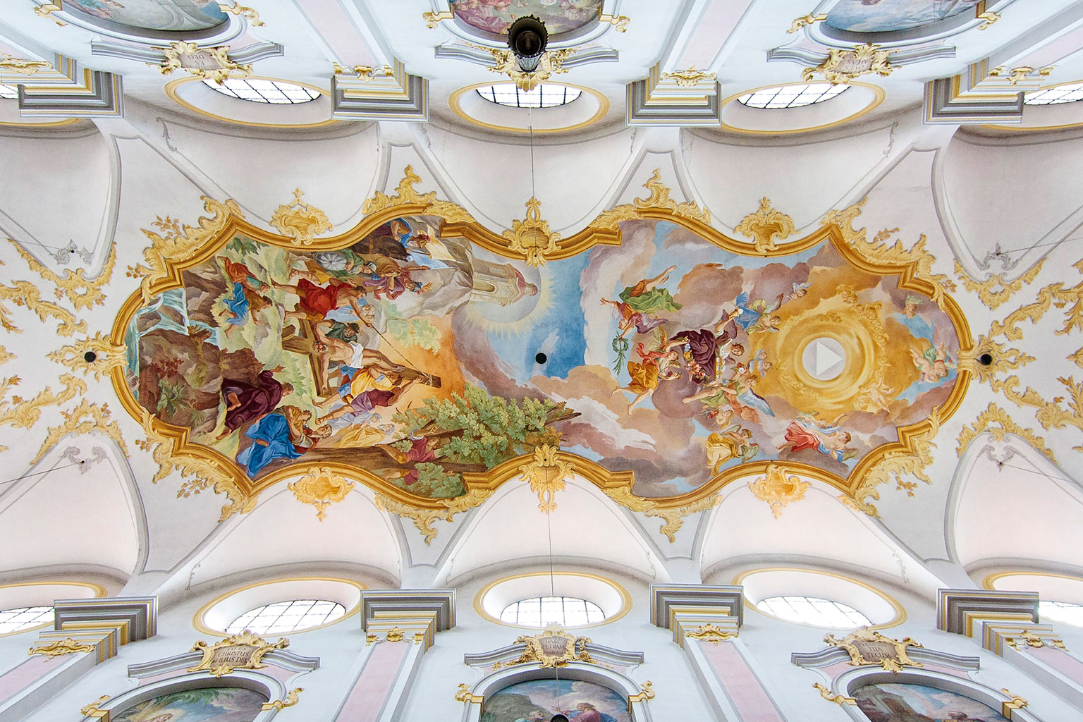 Ceiling of St. Peter's Church, Munich