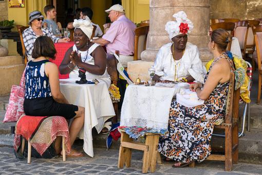 Fortune Tellers in Havana, Cuba
