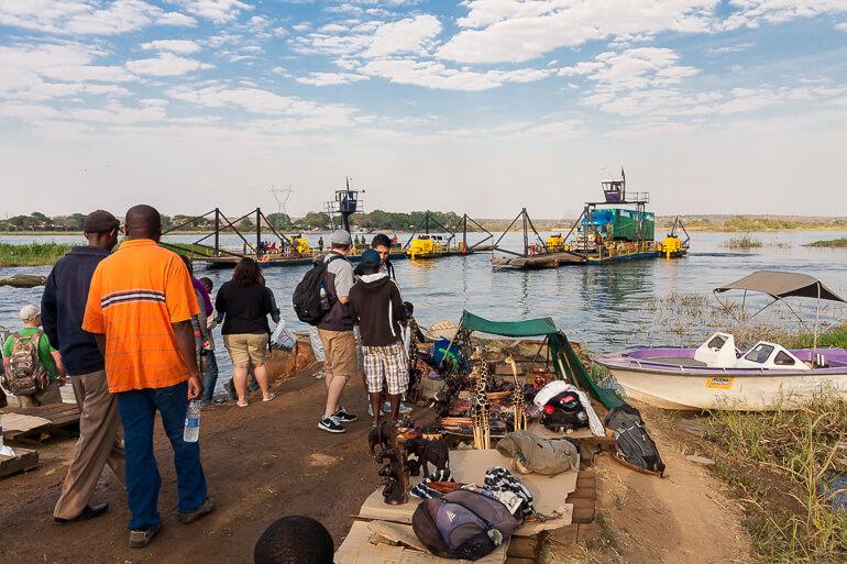 Zambezi River Crossing, Zambia