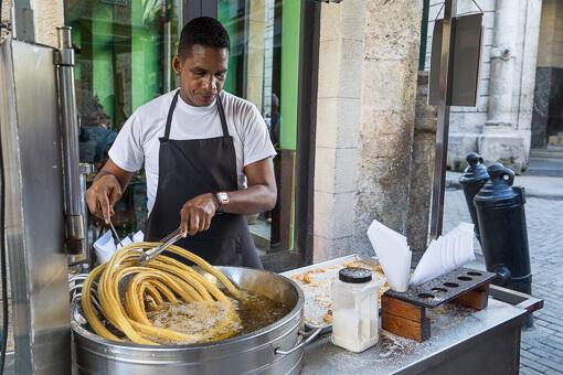 Churro maker, Havana, Cuba