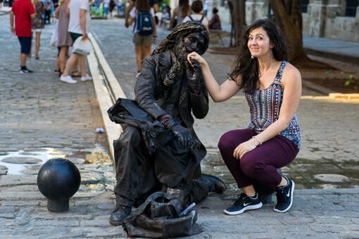 Street performer, Havana, Cuba