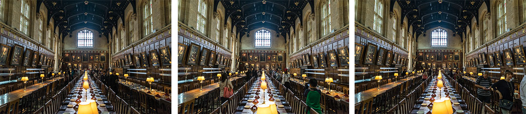 Crowd comparison at Christ Church Great Hall