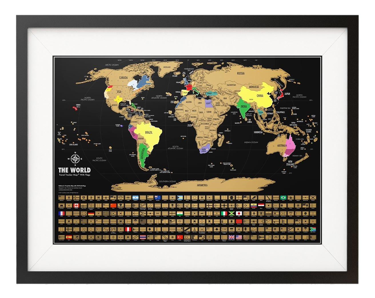 Landmass Scratch Off World Map