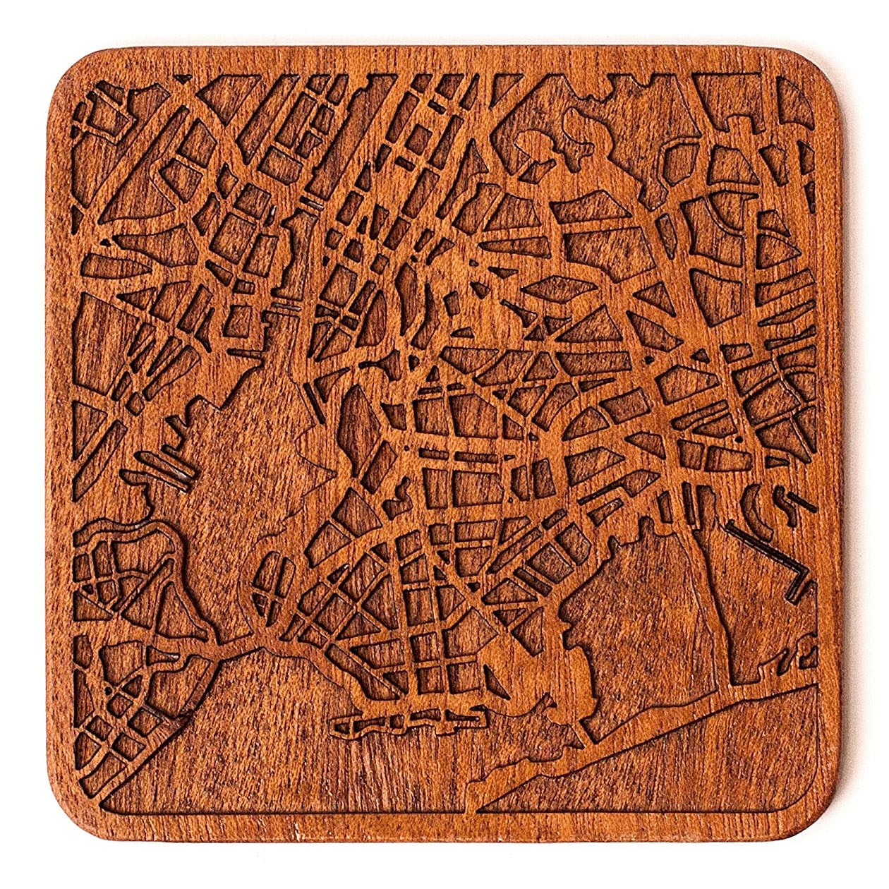 Wood Coaster Map