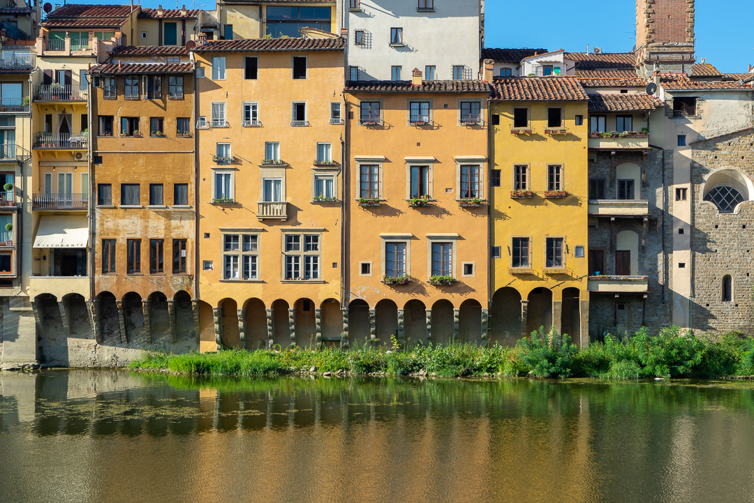 Houses along the Arno River, Florence, Italy