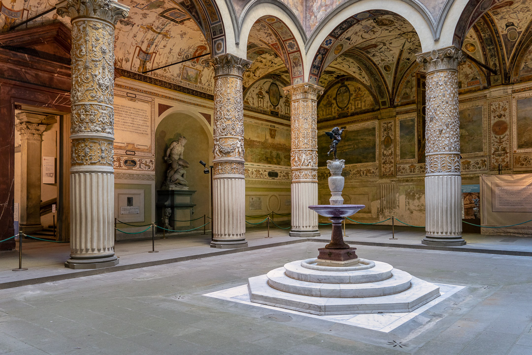 Courtyard of the Palazzo Vecchio, Florence, Italy