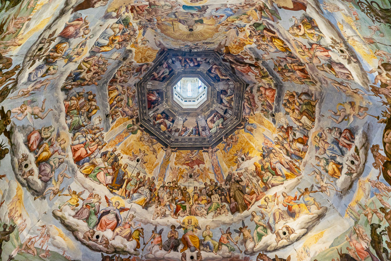 Frescos within the dome of Florence's cathedral